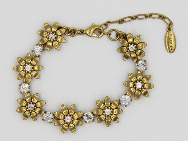 Pilgrim Kristall Blüten Armband gold #flowerOne - pilgrim 482012