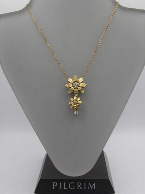 Pilgrim Kristall Blüten Kette gold flowerOne - pilgrim 482011