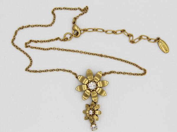 Pilgrim Kristall Blüten Kette gold flowerOne - pilgrim 482011.
