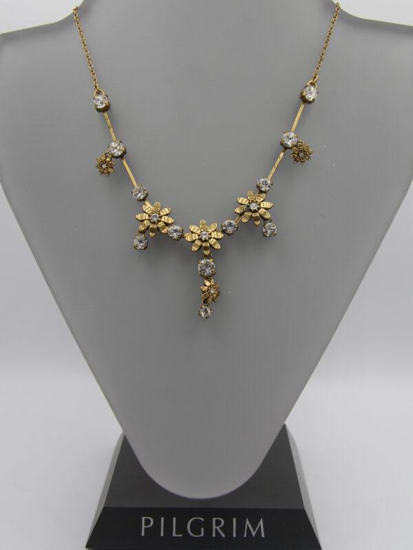 Pilgrim Kristall Blüten Kette gold flowerOne - pilgrim 482031