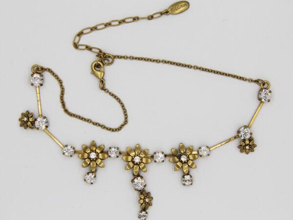 Pilgrim Kristall Blüten Kette gold flowerOne - pilgrim 482031 - BQualität
