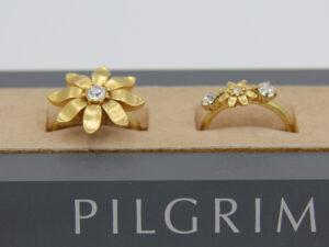 Pilgrim Kristall Blüten Ring gold #flowerOne