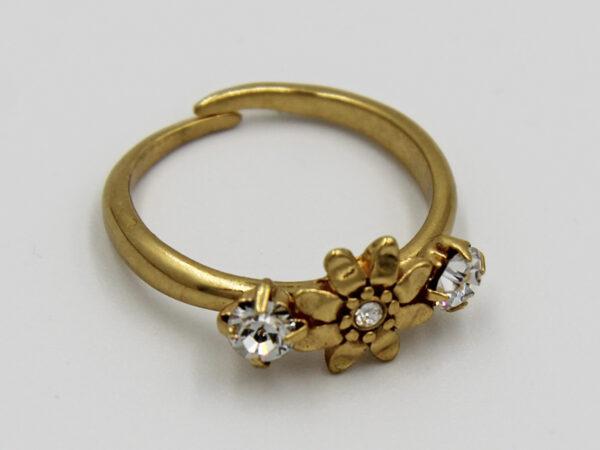 Pilgrim Kristall Blüten Ring gold #flowerOne - pilgrim 482004