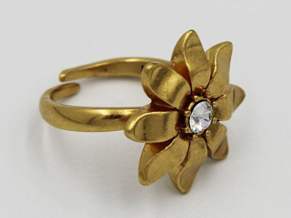 Pilgrim Kristall Blüten Ring gold #flowerOne - pilgrim 482014
