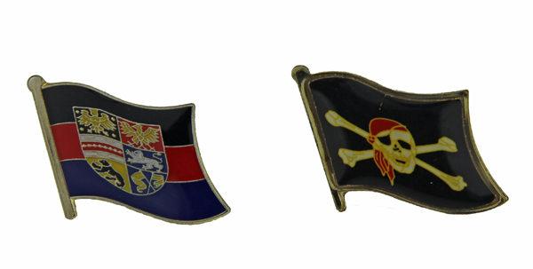 Pins Ostfriesland Flagge Pin Piraten Flagge