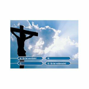 Postkarte Osterbotschaft - 4me Es ist vollbracht - Quiz Show