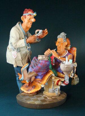Skulptur Zahnarzt Profisti Figur - Parastone Dentist, groß