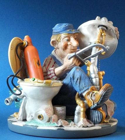 berufsskulptur installateur profisti figur parastone skulptur klempner traumflug online shop. Black Bedroom Furniture Sets. Home Design Ideas