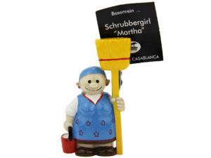 Putzfee Schrubbergirl Martha - Kartenhalter Putzfrau oder Magnet Putzfrau