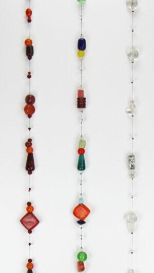 Räder Glaskette Glaslichtspiel - Kette orange,weiß oder Multi, 1m Fensterdeko zoom