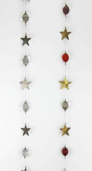 Räder Stars Sternen Glaskette mit Metallsternen zoom