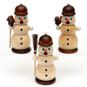 Räucherfigur Schneemann - kleine Räucherfirgur schneemann räuchermännchen mini
