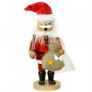 Räuchermännchen Weihnachtsmann Räucherfigur Weihnachtsmann- Räuchermännchen mit Umhang