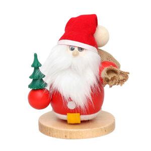 Räuchermännchen Weihnachtsmann mit Sack und Tannenbaum