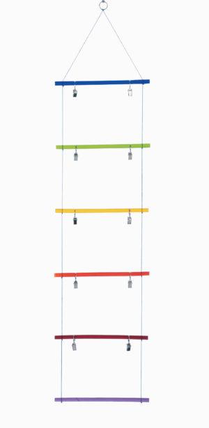 Memo-Kartenleiter - Fotoleiter - Kartenhalter bunt Regenbogen