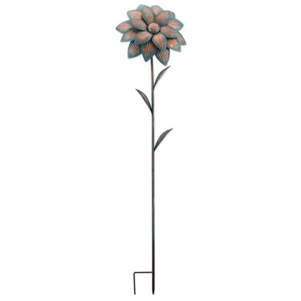 Metall Blume Gartenstecker Flower - Finisch in leuchtender Farbgebung RG11219_1