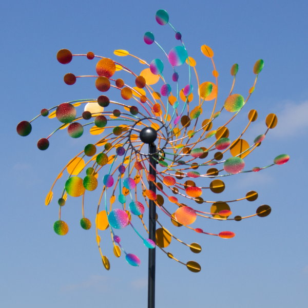 Confetti XXL - 81 cm Kinetic Spinner Confetti 81 RG11508_Kinetic Spinner 81cm - Confetti doppeltes Windrad bunt gegenläufig Regal Art & Gift extravagant Winspiel Gartenobjekt Park der Gärten