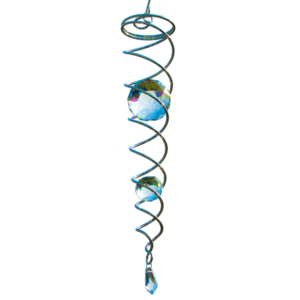 CRYSTAL TWISTER - magische Kugel Spirale mit 2 Glaskugeln - Mobile - Windspiel