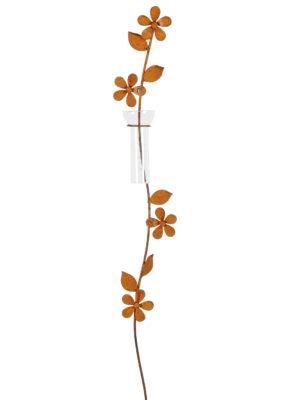 Regenmesser Blumenranke - schlichter Gartenstecker mit Niederschlagsmesser