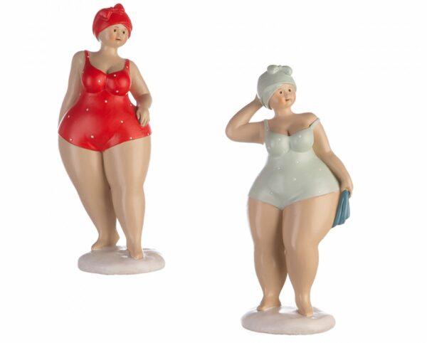 Retro Badefigur - Tante Elli - XL Schwimmerin dicke Dame Becky