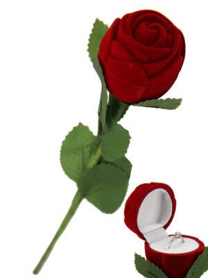 Ring Rose - Ringdose rote Rose Schmuckschachtel