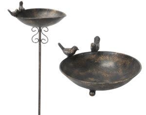 Robuste Vogeltränke aus Eisen - Insektentränke - Vogelbad - Vogelfutterschale