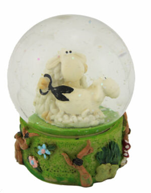 Schüttelkugel Schafe – Schneekugel Schafscherer – Traumkugel Frisör Schaf