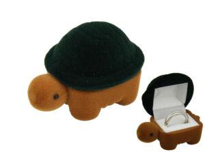Schildkröte Ringbox - Schmuckschatulle Schildkröte.