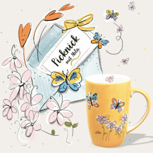 Schmetterlinge und Landblume