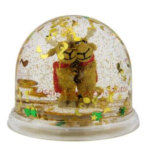 Schneekugel Elche - Traumkugel Elchpaar - Weihnachtsschüttelkugel Rentier