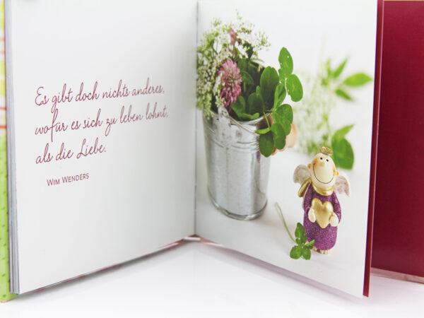 Schutzengel Buch - kleines Büchlein zum Verschenken beispielseite