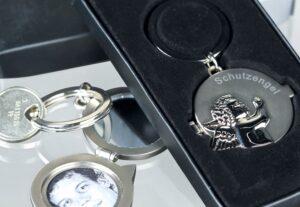 Schlüsselanhänger Schutzengel Medaillon Schutzengel Medaillon Schlüsselanhänger 40477