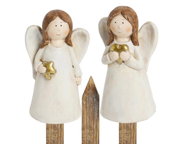 Schutzengel Zaunhocker Engel aus Ton