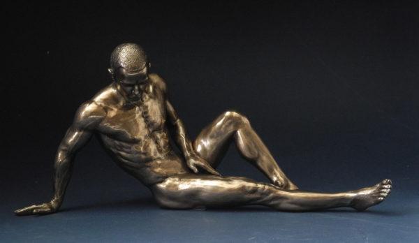 Skulptur männlicher Akt - Body Talk - nackter Mann Skulptur WU 75076