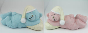Bär Spardose zur Geburt Spardose Geburtsbärli blau oder rosa