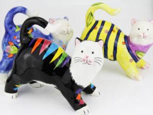 Spardose Katze Dekofigur für Geldgeschenk