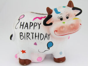 Spardose Kuh Geburtstag - Happy Birthday Cow