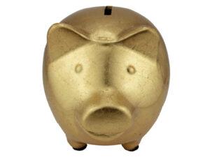 Sparschwein Goldy - goldenes Sparschwein - Der Hingucker