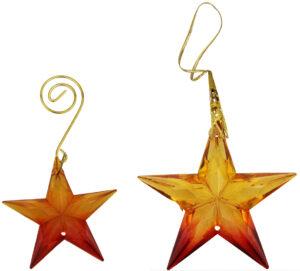 Stern Anhänger orange , Sternenhänger Tannenbaumschmuck, Geschenkanhänger, Dekohänger