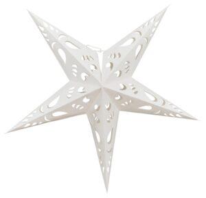 Sternlampe Paper Art - Leuchtstern beige, 32 cm - Papierstern mit Lampenfassung komplett