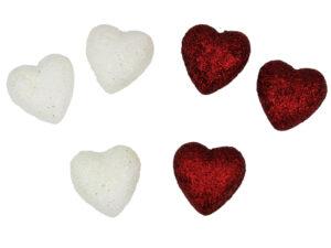 Tischdeko Herzen - Streudeko Herz mit Glitteroptik - romantische Deko
