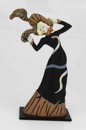 Toulouse-Lautrec Skulptur Tänzerin Jane Avril (La Mélinite) - Jugendstil Figur - Musuemskulptur