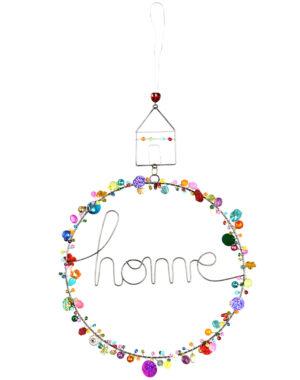 Verzierter bunter Drahttürkranz Home Haus Fensterdeko - in verschiedenen Farben