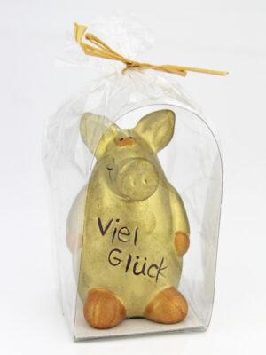 Viel Glück Schwein gold