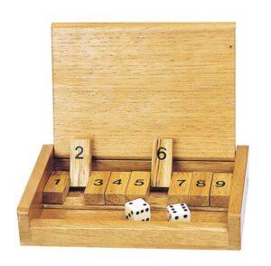 Würfelspiel Shut the box - einfaches Zahlenspiel