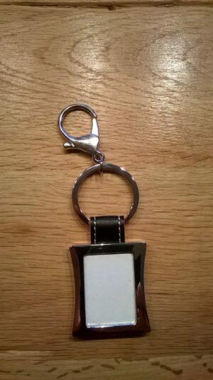 Foto Schlüsselanhänger aus Edelmetall - silber - Gravurfähig - Schlüsselring Bilderrahmen