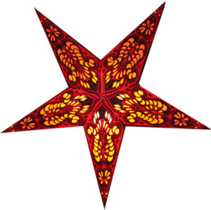 Bombay Weihnachtsstern Leuchtstern, Papierstern 60cm mit Zippverschluß - Leuchtmittel wählbar