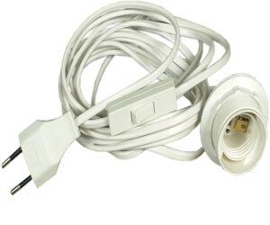 Verstromung Elektrokabel E27 Fassung - Kabel für Innensterne - Zubehör für Papier Stern - Leuchtstern