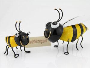 Wandhänger Biene Metall - Wanddeko Bienen