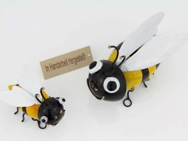 Wandhänger Biene Metall - Wanddeko Bienen-draufsicht